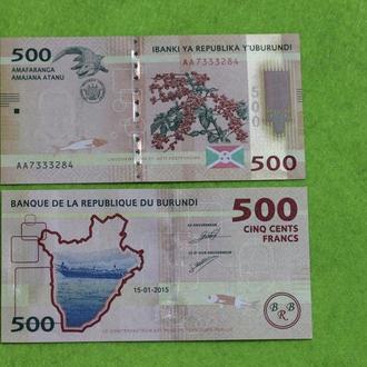 Бурунди, 500 франков, 2015 г. UNC
