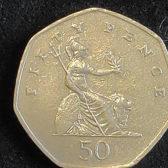 Великобритания 50 пенсов