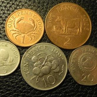 Комплект монет Гернсі