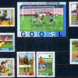 Вьетнам. Футбол (серия+ блок) 1985 г.