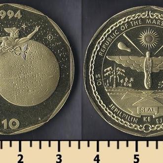 Маршалловы острова 10 долларов 1994