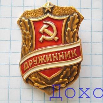 Значок Дружинник СССР 1