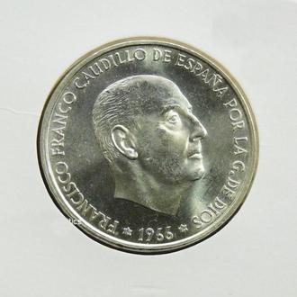 Испания 100 песет 1966 (70) г., UNC, 'Франсиско Франко (1939-1975)'