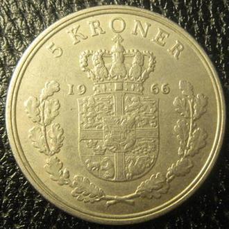 5 крон 1966 Данія