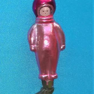 Елочная игрушка старинная на прищепке Космонавт СССР нг