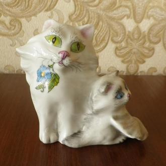 """Статуэтка """"Кошка с котёнком"""" 8 см автор Красная Киев"""