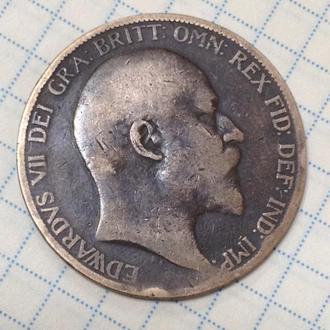 ВЕЛИКОБРИТАНИЯ, 1 пенни 1902