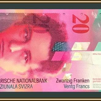 Швейцария 20 франков 2008 P-69 (69e.2) UNC