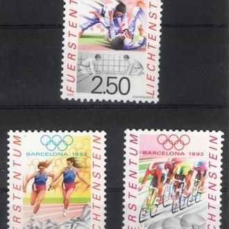 Лихтенштейн - олимпиада 1992 - Michel Nr. 1035-1037 **