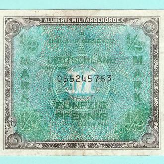 Германия оккупация  1/2 марки 1944