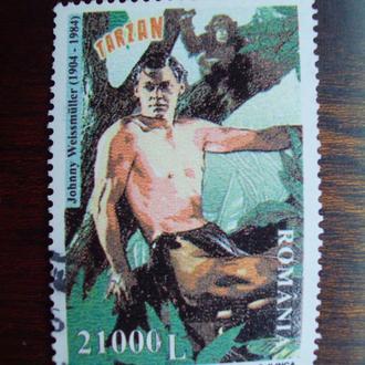 Румыния.2004г. Олимпийский чемпион и артист Дж.Вайсмюллер. Полная серия.