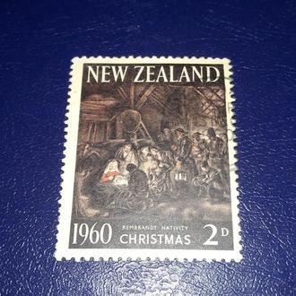 Марка  Новая Зеландия 1960