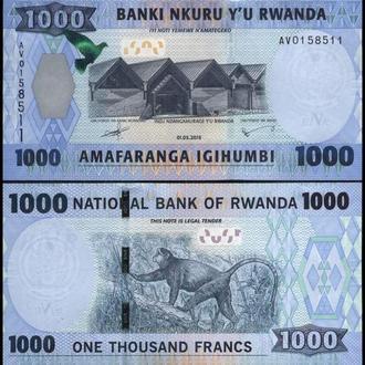 РУАНДА 1000 франков 2015г. UNC