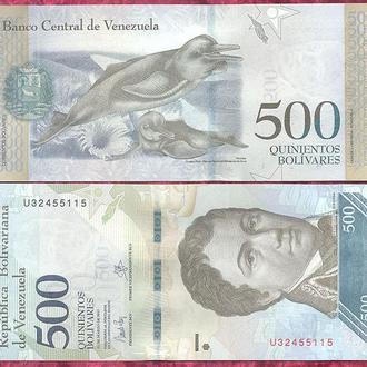 Боны Америка Венесуэла 500 боливар 2017 г