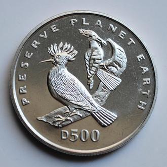 Босния и Герцеговина 500 динаров 1996 г., UNC, 'Заповедник планета Земля - Удод'