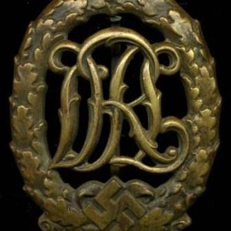 Спортивный знак DRL, Третий Рейх, бронза, оригинал