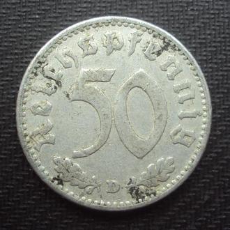 Германия 3-й Рейх 50 рейхспфен. 1935г.D.