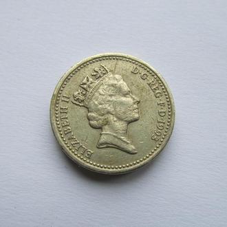1 фунт Великобритания 1993 год