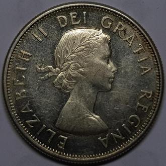 Канада 50 центов 1964 год СЕРЕБРО!!! вес 11,6 гр. дм. 29.7 мм. ОТЛИЧНОЕ СОСТОЯНИЕ!!!!!