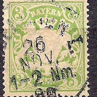 Бавария, немецкие земли, 1888 г., марка № 54 B
