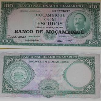 Мозамбик, 100 эскудо 1961 UNC