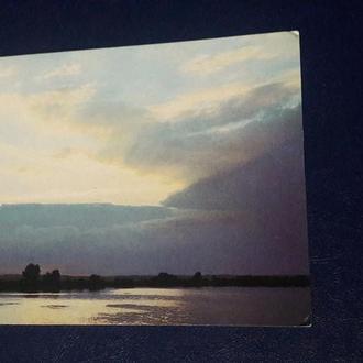 Открытка озеро Селигер СССР 1985