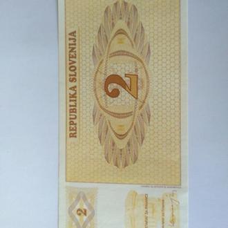 2 толара, Словения, Пресс, unc, оригинал.