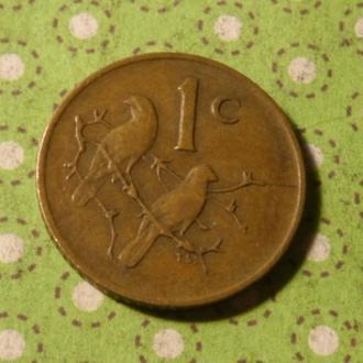ЮАР 1975 год монета 1 цент Африка ПАР !