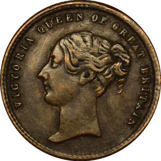 Жетон Великобританія Victoria The Prince of Wales Model Half Sovn  2.8г ,20мм  (1840-1863)  #63
