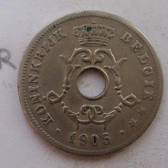 БЕЛЬГИЯ 10 сантимов 1905 г.