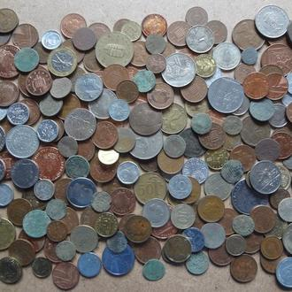 Гора интересной иностранщины. 216 монет. Только зарубежка от старинны до современ с 1 грн,!