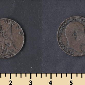 Великобритания 1 фартинг 1909