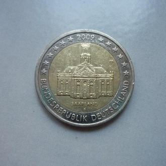 ФРГ 2 евро 2009 F юб.