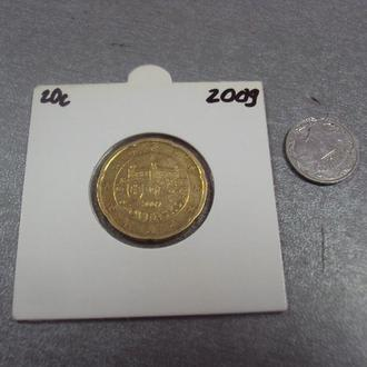 монета словакия 20 евро центов 2009 №14330