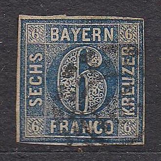Баден, 1853г., немецкие земли, марка № 7