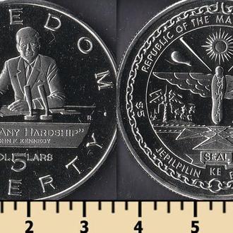 Маршалловы острова 5 долларов 1995