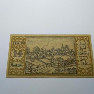 50 пфеннигов, нотгельд Германия, Берлин, 1921, сохран, оригинал, с гривны! Серия городские районы 14