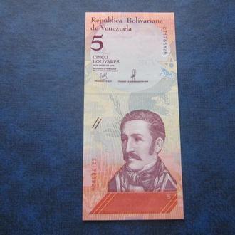 Банкнота 5 боливаров Венесуэла 2018 фауна лягушка UNC пресс