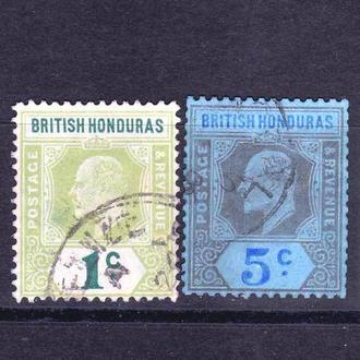 GB Колонии . Британский Гондурас 1904 г - гаш. -