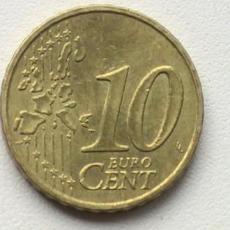 10 Євроцентів 2003 р Франція 10 Центів 2003 р 10 Евроцентов 2003 г Франция 10 Центов 2003 г