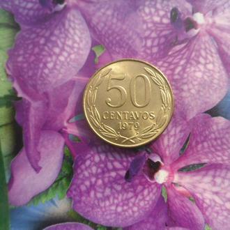 Чили 50центавос 1979г