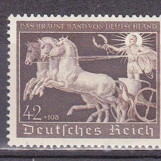 Рейх 1940 скачки, лошадь, коричневая лента MH