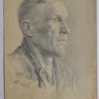 Диброва А. ,,Мужчина,, бумага, акварель. Размеры 45х31 см.