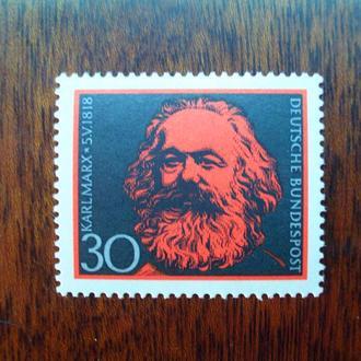 ФРГ.1968г. Карл Маркс. Полная серия. MNН