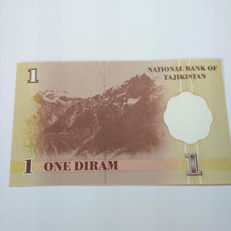 1 дирам 1999 Таджикистан, пресс, Unc, оригинал!