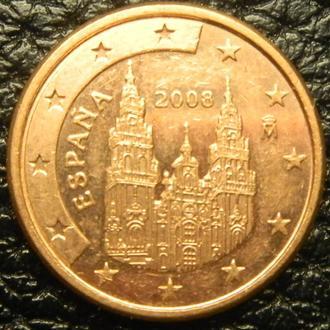 1 євроцент 2008 Іспанія