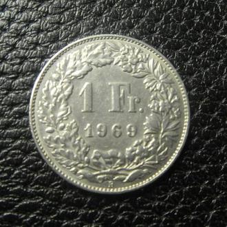 1 франк 1969 B Швейцарія