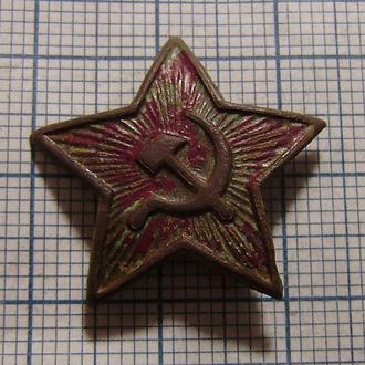 Звезда-кокарда РККА, 24 мм на пилотку (латунь)