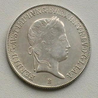 20 Крейцеров 1843 г В Австро-Венгрия Фердинанд Мадонна Серебро 20 Крейцерів 1843 р В Австрія Срібло