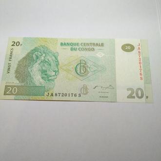 20 франков 2003, Конго, пресс, unc, оригинал